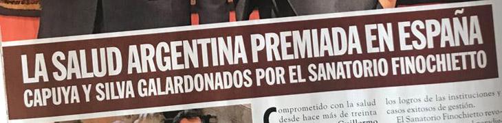 Revista Caras –  La salud argentina premiada en España