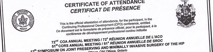 Certificado Ottawa