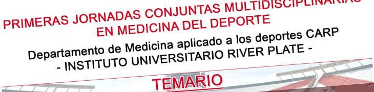 Primeras jornadas conjuntas multidisciplinarias en medicina del deporte