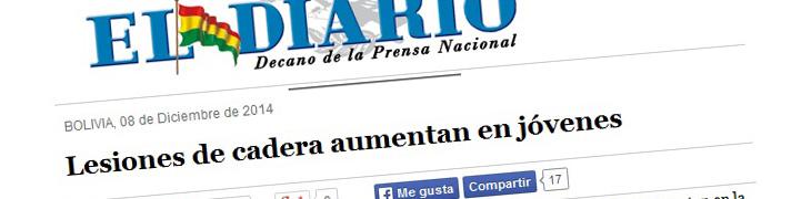 Lesiones de cadera aumentan en jóvenes – El Diario, Sociedad