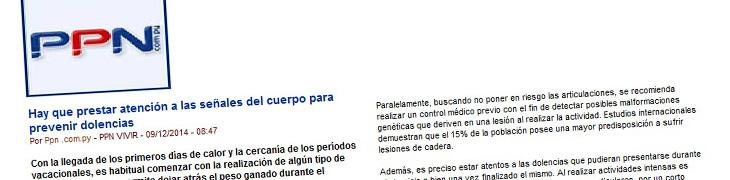 Hay que prestar atención a las señales del cuerpo para prevenir dolencias – Portal Paraguayo de Noticias